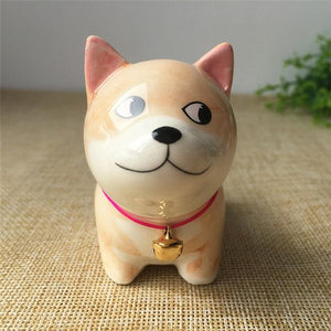 Cute Ceramic Car Dashboard / Office Desk Ornament for Dog LoversHome DecorShiba Inu