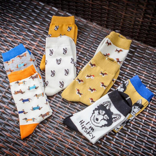 Cute Doggo Pattern Socks - 2 PairsSocks