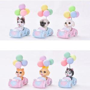 Cutest Balloon Car Bichon Frise BobbleheadCar Accessories