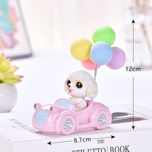 Cutest Balloon Car Bichon Frise BobbleheadCar AccessoriesBichon Frise