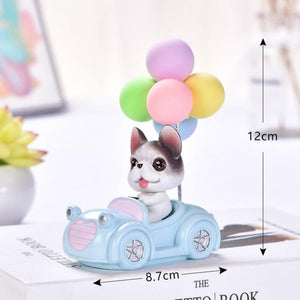 Cutest Balloon Car Bichon Frise BobbleheadCar AccessoriesBoston Terrier / French Bulldog