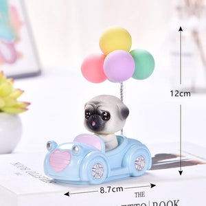 Cutest Balloon Car Bichon Frise BobbleheadCar AccessoriesPug