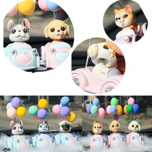 Cutest Balloon Car Shih Tzu BobbleheadCar Accessories