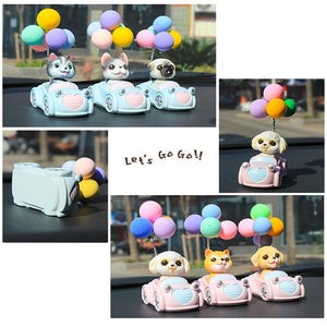 Cutest Balloon Car Toy Poodle BobbleheadCar Accessories