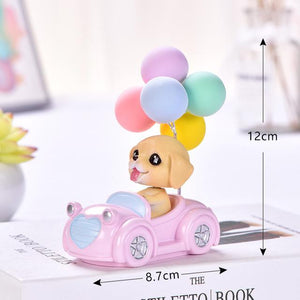 Cutest Balloon Car Toy Poodle BobbleheadCar AccessoriesGolden Retriever