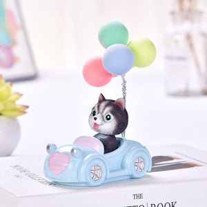 Cutest Balloon Car Toy Poodle BobbleheadCar AccessoriesHusky