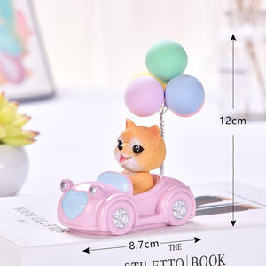 Cutest Balloon Car Toy Poodle BobbleheadCar AccessoriesShiba Inu