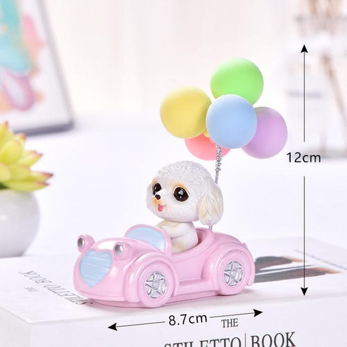 Cutest Balloon Car Toy Poodle BobbleheadCar AccessoriesToy Poodle