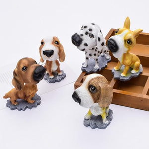 Cutest Basset Hound Car Bobble HeadCar