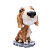 Load image into Gallery viewer, Cutest Basset Hound Car Bobble HeadCarBasset Hound
