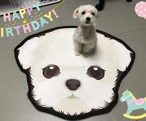 Cutest Beagle Floor RugHome DecorBichon FriseMedium