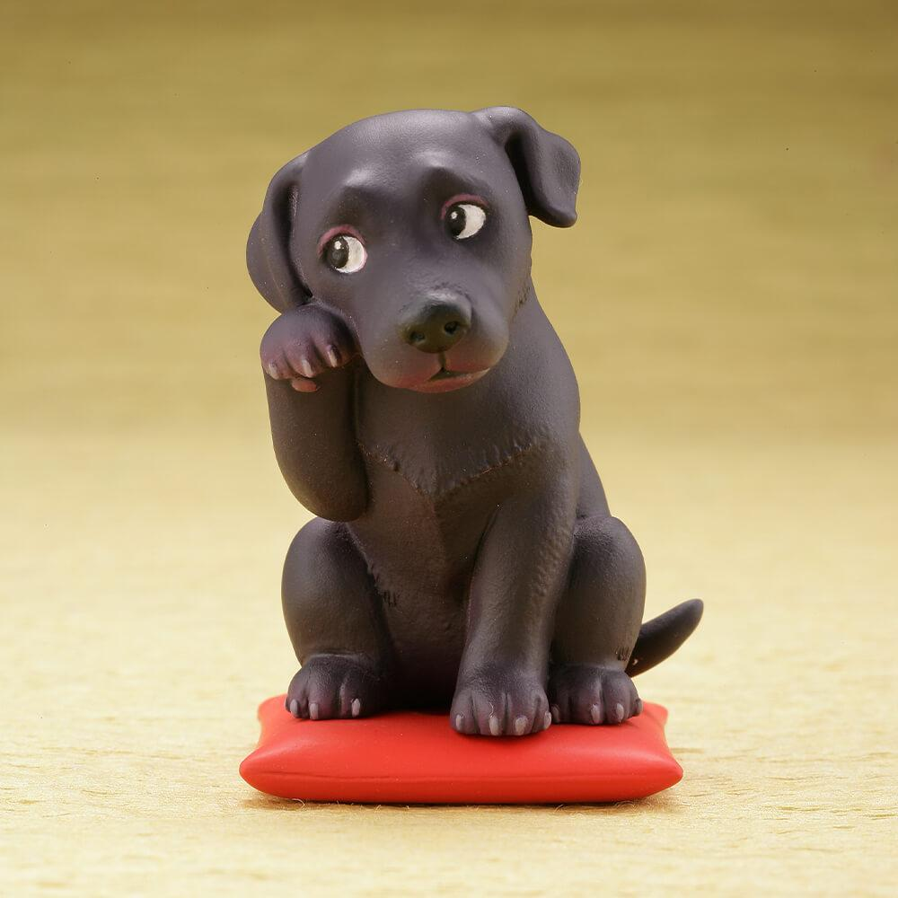 Cutest Black Labrador Desktop Ornament FigurineHome DecorBlack Labrador