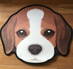 Cutest Border Collie Floor RugHome DecorBeagleMedium