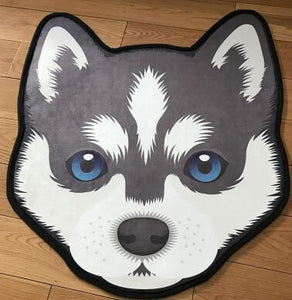 Cutest Border Collie Floor RugHome DecorHuskyMedium