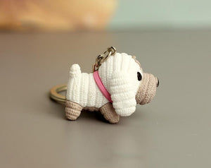 Cutest Boston Terrier Love KeychainKey ChainPoodle