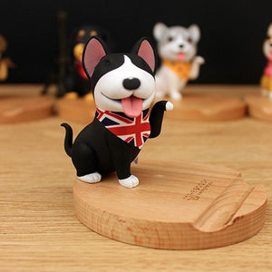 Cutest Boston Terrier Office Desk Mobile Phone HolderHome DecorBull Terrier - Black