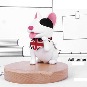 Cutest Boston Terrier Office Desk Mobile Phone HolderHome DecorBull Terrier - White