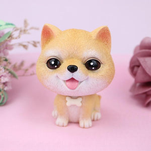 Cutest Brown Shih Tzu Love Miniature BobbleheadCar AccessoriesShiba Inu