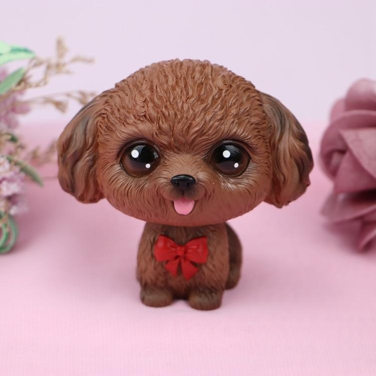Cutest Brown Toy Poodle Love Miniature BobbleheadCar AccessoriesToy Poodle - Brown