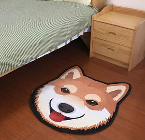 Cutest Bull Terrier Floor RugHome Decor