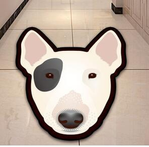 Cutest Bull Terrier Floor RugHome DecorBull TerrierMedium