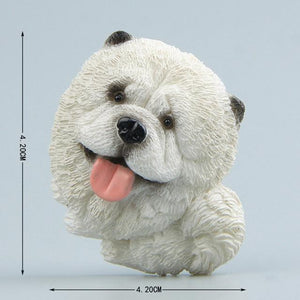 Cutest Bull Terrier Fridge MagnetHome DecorTibetan Mastiff - White