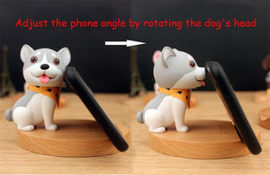Cutest Bull Terrier Office Desk Mobile Phone HolderHome Decor