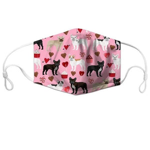 Cutest Bull Terriers in Bloom Face Mask - Series 1AccessoriesFrench Bulldogs with Hearts & CupcakesCHINA