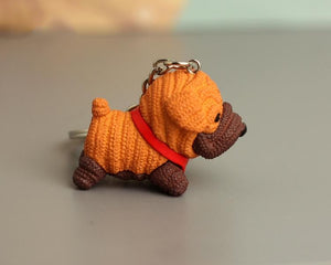 Cutest Dachshund Love KeychainKey ChainPug