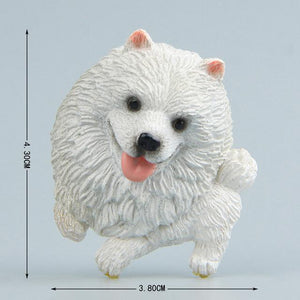Cutest Dogs Fridge MagnetsHome DecorEskimo Dog / Pomeranian / Samoyed / Spitz - Slanting