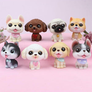 Cutest Fawn / White French Bulldog Love Miniature BobbleheadCar Accessories
