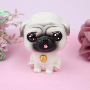 Cutest Fawn / White French Bulldog Love Miniature BobbleheadCar AccessoriesPug