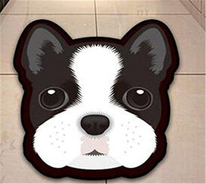 Cutest Husky Floor RugHome DecorBoston TerrierMedium
