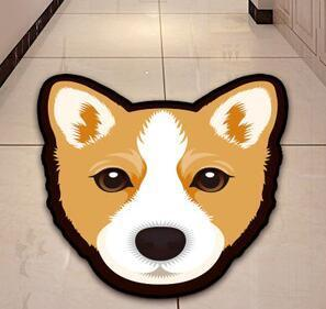 Cutest Husky Floor RugHome DecorCorgiMedium