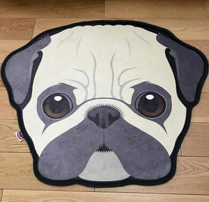 Cutest Husky Floor RugHome DecorPugMedium