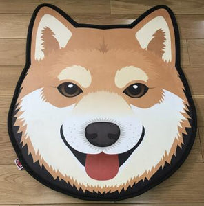 Cutest Husky Floor RugHome DecorShiba InuMedium