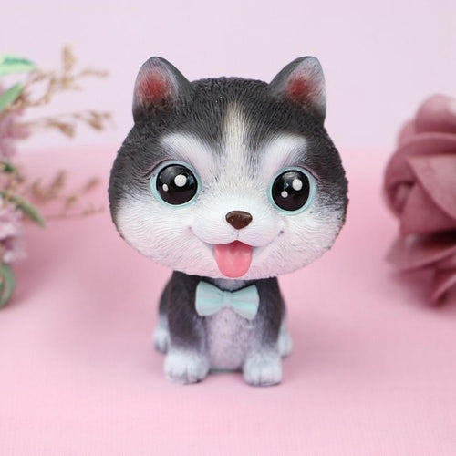 Cutest Husky Love Miniature BobbleheadCar AccessoriesHusky