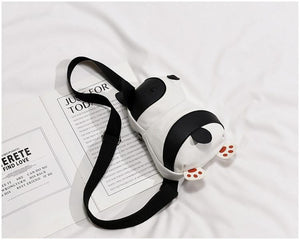 Cutest Pied Black and White French Bulldog Love Messenger BagAccessories