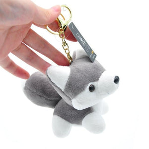 Cutest Plush Husky Keychain or Good Luck CharmKey Chain
