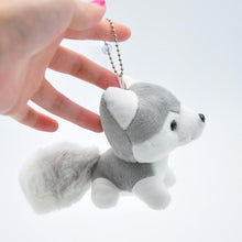 Load image into Gallery viewer, Cutest Plush Husky Keychain or Good Luck CharmKey ChainBeaded Pendant