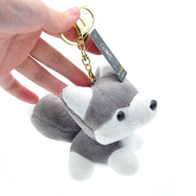 Load image into Gallery viewer, Cutest Plush Husky Keychain or Good Luck CharmKey ChainKeychain
