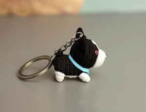 Cutest Poodle Love KeychainKey ChainBoston Terrier