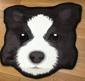 Cutest Pug Love Floor RugHome DecorBorder CollieMedium