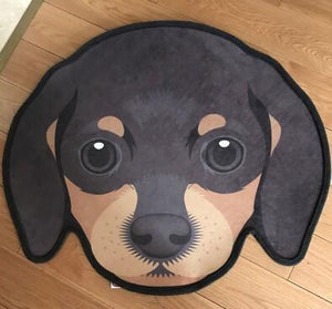 Cutest Pug Love Floor RugHome DecorDachshundMedium