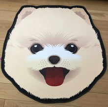 Load image into Gallery viewer, Cutest Pug Love Floor RugHome DecorPomeranian / American Eskimo Dog / SpitzMedium