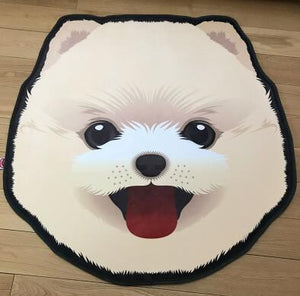 Cutest Pug Love Floor RugHome DecorPomeranian / American Eskimo Dog / SpitzMedium