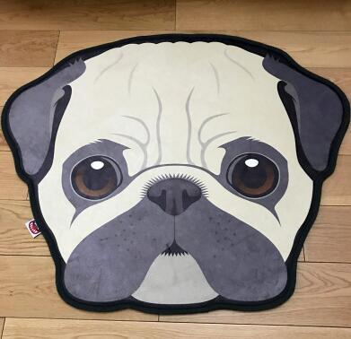 Cutest Pug Love Floor RugHome DecorPugMedium