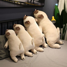 Load image into Gallery viewer, Image of four Pug stuffed animals soft plush toys back view