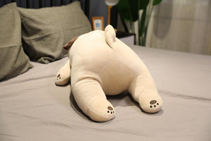 Image of a Pug stuffed animal soft toy back view