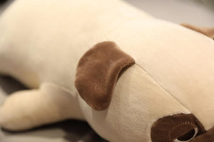 Image of an ear of the Pug stuffed animal soft toy